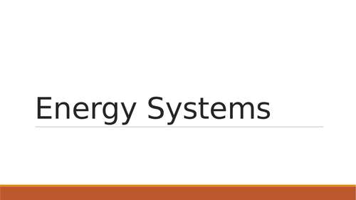 OCR H555 Presentation for Energy Systems