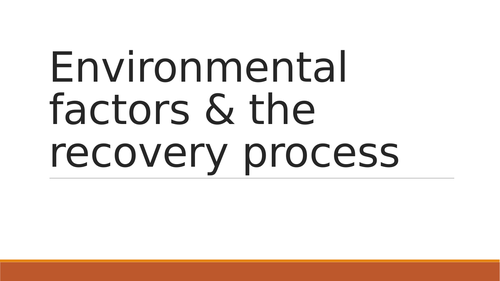 OCR H555 Presentation for Environmental effects