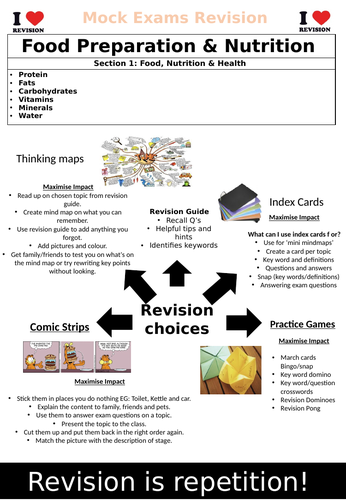 AQA GCSE Food Preparation & Nutrition Section 1 Revision Book