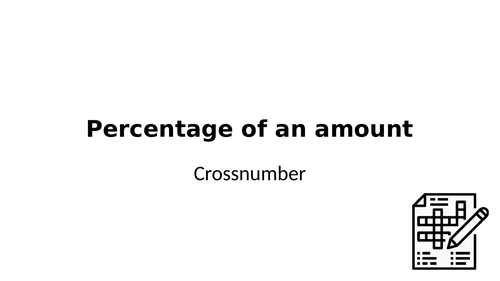 Crossnumber: Percentage of an amount
