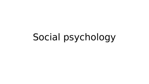EDEXCEL Social Psychology