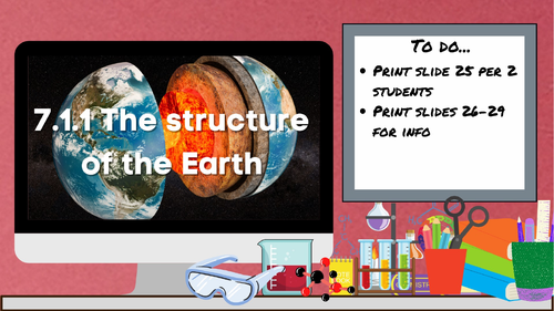 KS3 AQA Activate 7.1.1 The structure of the the Earth