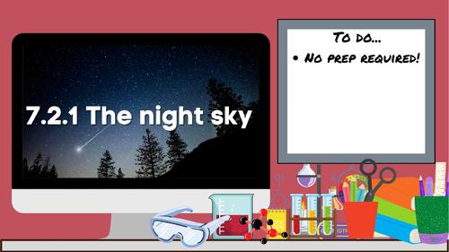 KS3 AQA Activate 7.2.1 The night sky