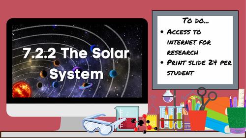 KS3 AQA Activate 7.2.2 The Solar System