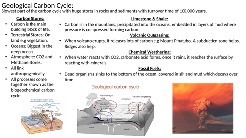 Edexcel A Level Geography: The Carbon Cycle & Energy Security Flashcards/Revision