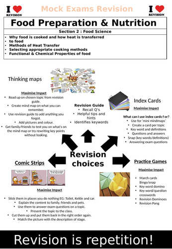 AQA GCSE Food Preparation & Nutrition Section 2 Revision Book