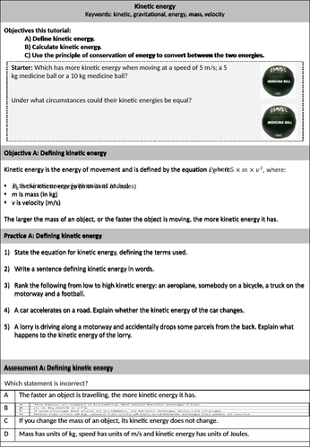 Kinetic energy resource (high ability!)