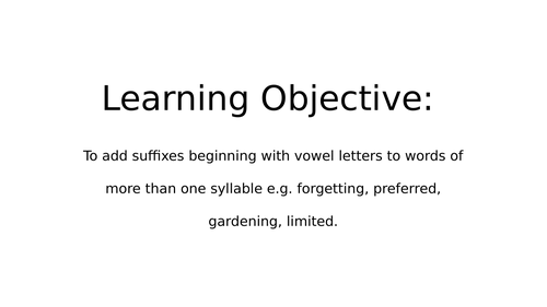 -ed and -ing participles Year 3/ 4