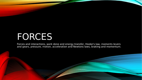 Forces topic powerpoint