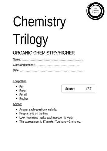 GCSE Chemistry Hydrocarbons Assessment