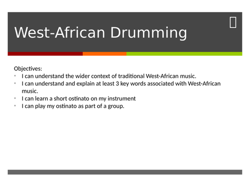 West African Drumming Class Performance