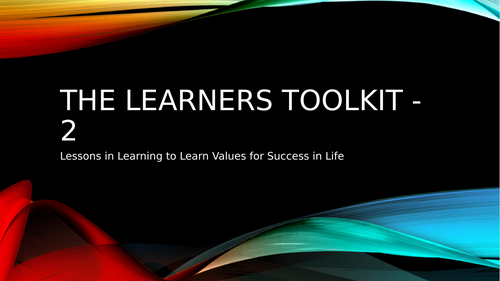 The Learners Toolkit 2 ~ Emotional Intelligence