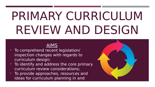 Primary Curriculum Review and Design - CPD/ Information Session