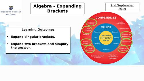 Year 7 Scheme of Work PowerPoints Shape, Algebra, Data handling and Number