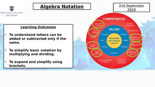 Year 8 Scheme of Work PowerPoints Shape, Algebra, Data handling and Number