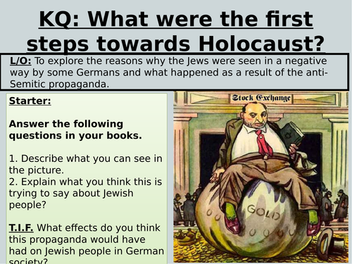 KS3 HOLOCAUST MYTHS AND KRISTALLNACT