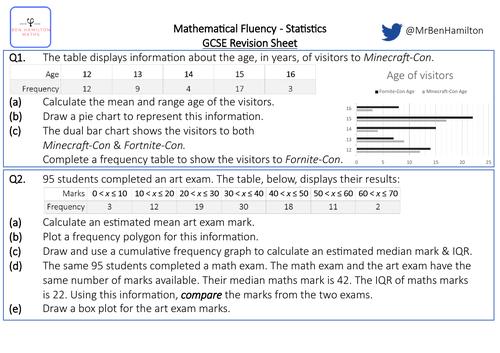 GCSE Maths Statistics Revision