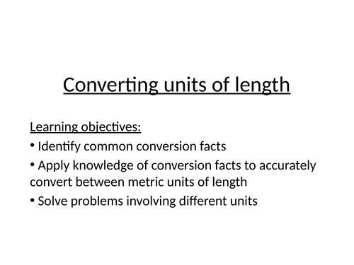 Converting units of length