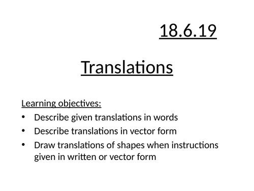 Translations of shapes
