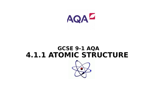 Atomic Structure for GCSE 9-1 Chemistry AQA