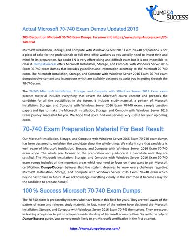 Pass Microsoft 70-740 Exam  Cheat Sheet