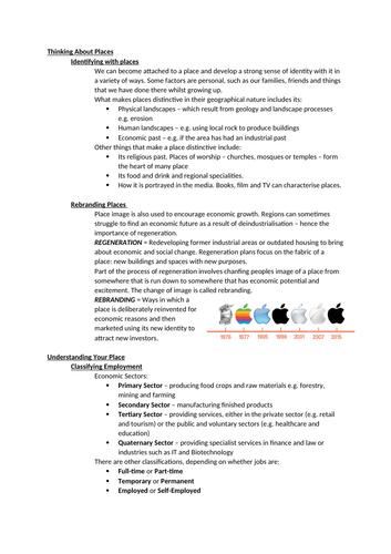 Regeneration Revision Notes