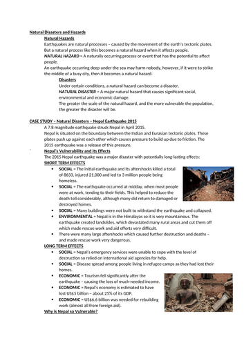Tectonics Revision Notes