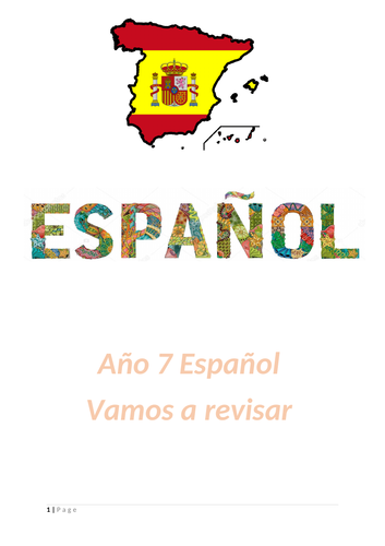 Revision booklet year 7 Spanish
