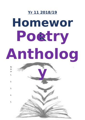 Eduqas Poetry Anthology Homework Book