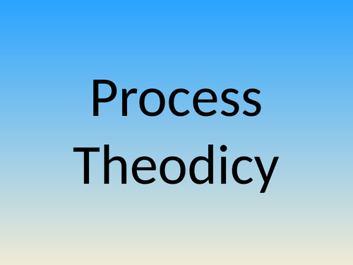 Process Theodicy as a response to the Problem of Evil