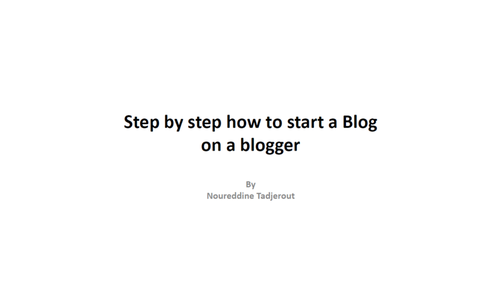 Practical Step by Step to how to start a Blog