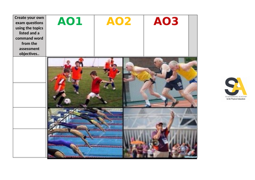 GCSE PE - Make your own question grids