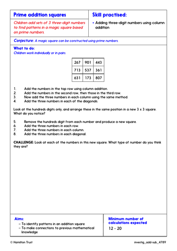 Choose methods for add/subt problems - Problem-Solving Investigations - Year 4