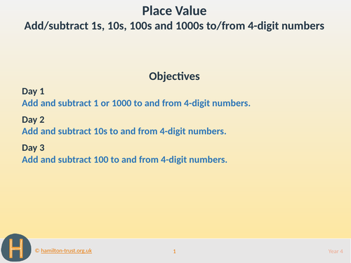 Place value additions: 4-digit numbers - Teaching Presentation - Year 4