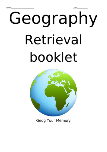 Retrieval booklet for AQA GCSE Geography topics 1A, 1B and 1C.