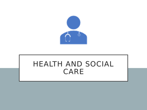 BTEC Health and Social Care Taster & transition work
