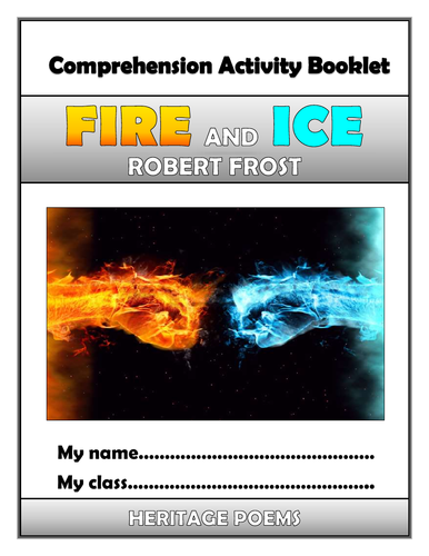 Fire and Ice Comprehension Activities Booklet!