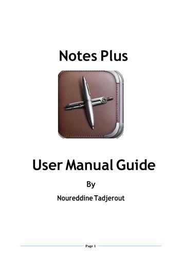 Step by Step Notes Plus Manual for beginner
