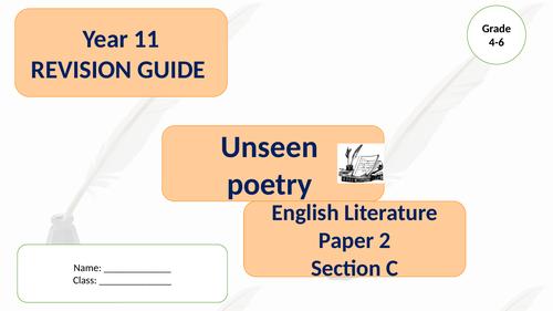 Unseen Poetry AQA Lit GCSE