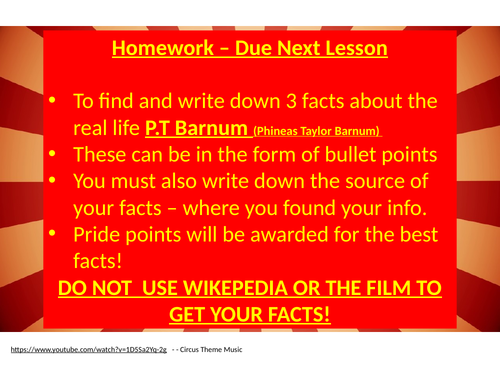 The Greatest Showman - PT Barnum - KS3 Drama Unit of work (6 lessons)