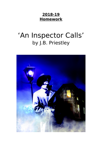 Differentiated homework booklet(s) for 'An Inspector Calls'.