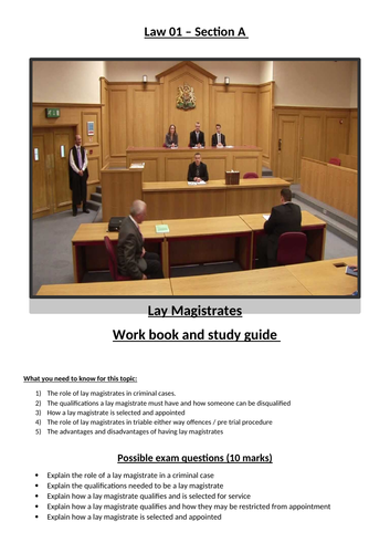 Law 01 OCR Booklet 2 - Magistrates