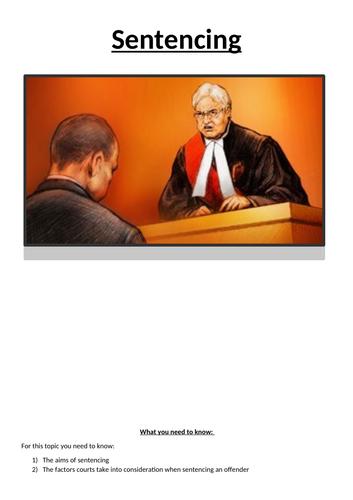 Law 01 OCR Booklet 4 - Sentencing