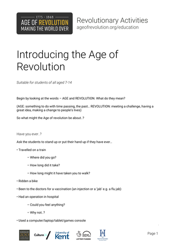Introducing the Age of Revolution