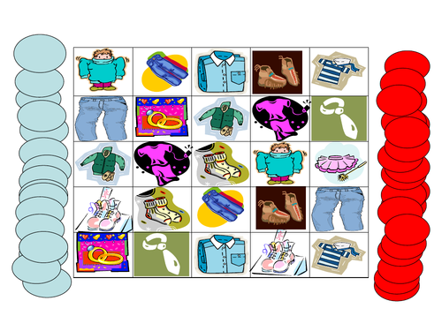 Clothes Connect 4 Game - for any language lesson