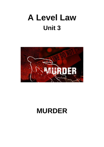 Murder Booklet