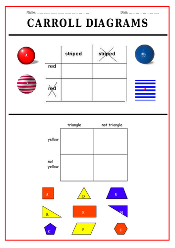 Carroll Diagrams Worksheet