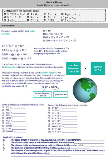 Maths skills in Physics