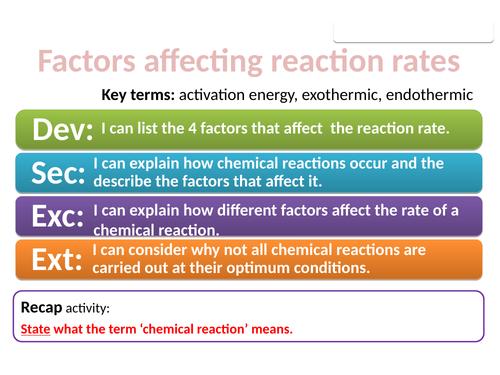 CC14b Factors affecting reaction rates (Edexcel Combined Science)