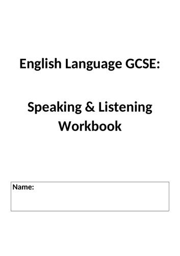 GCSE English Language Speaking & Listening Workbook